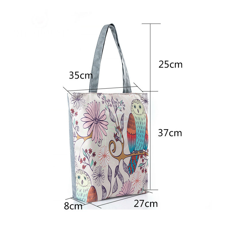 Owl Printed Design Tote Bag For Daily Use