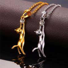 Cute Cat Necklace and Pendant For Ladies