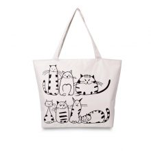 Tote Bags With Cats On Them For Casual Used